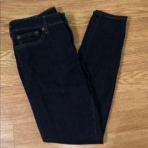 Women's size 8 dark blue skinny jeans.